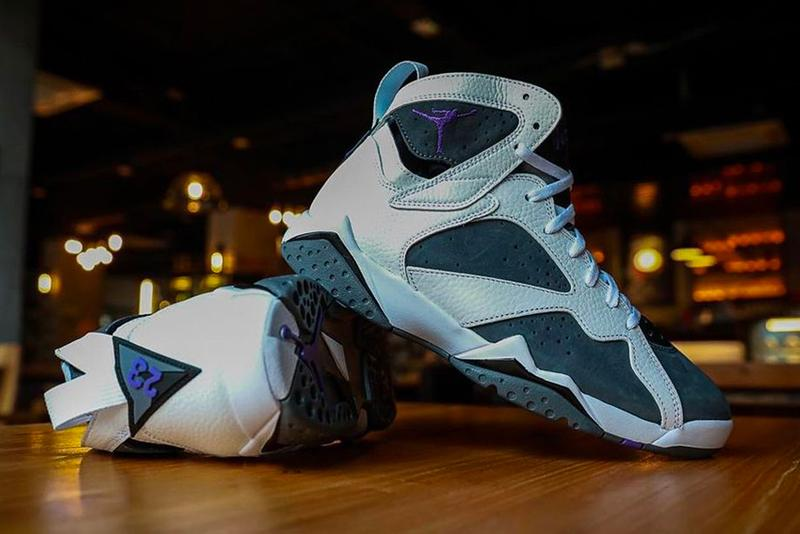 air jordan brand 7 flint white purple gray CU9307 100 official release date info photos price store list buying guide