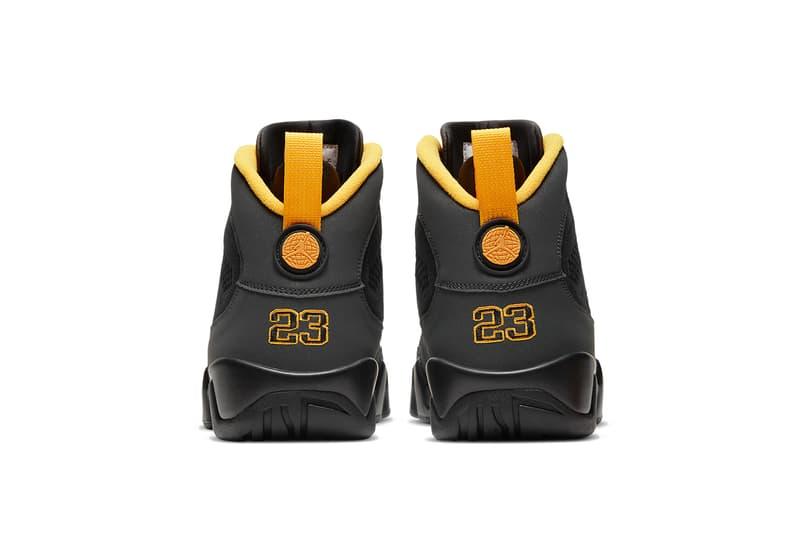 air jordan 9 university gold CT8019 070 release date info photos store list black grey buying guide