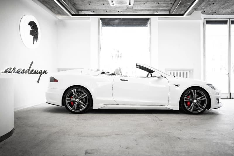 ares design italy italian coachbuilder tesla model s convertible custom modification workshop electric cars