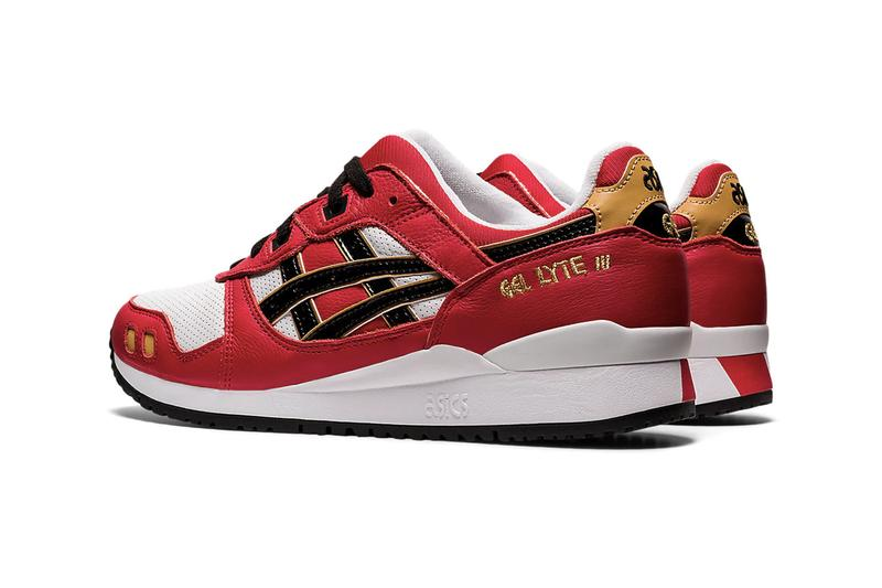 "ASICS GEL-LYTE III OG ""Classic Red/Black"" Daruma Doll Sneaker Release Information Japanese Sportswear Company Drop Date Split Tongue GEL-LD RACER™ Leather Perforated Underlays"
