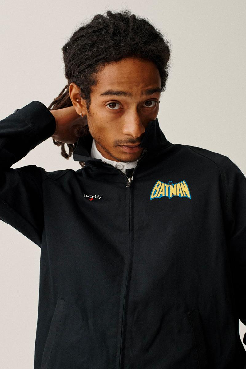 Batman NOAH Capsule Collection Release Buy Price Date Jacket Hoodie T shirt Sweatpants Brendon Babenzien DC Comics