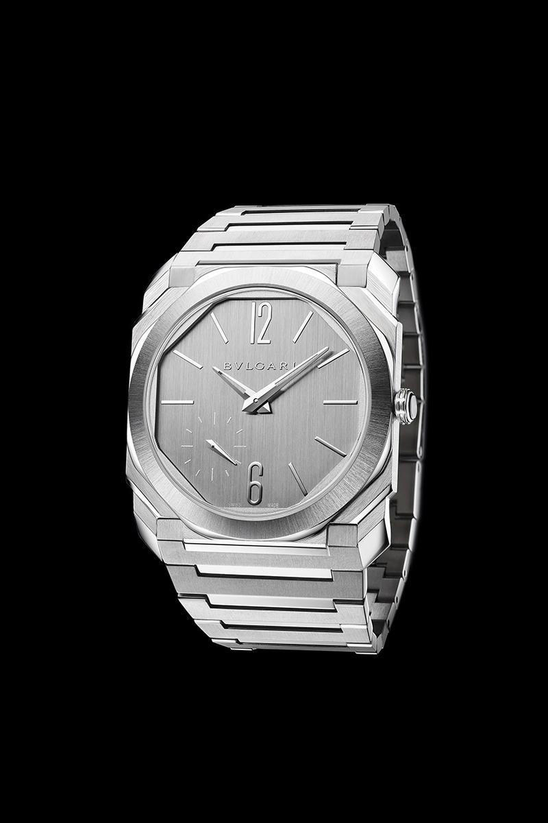 Bulgari Goes Back to Bare Metal With Completely Monochrome Octo Finissimo S Silvered Dial
