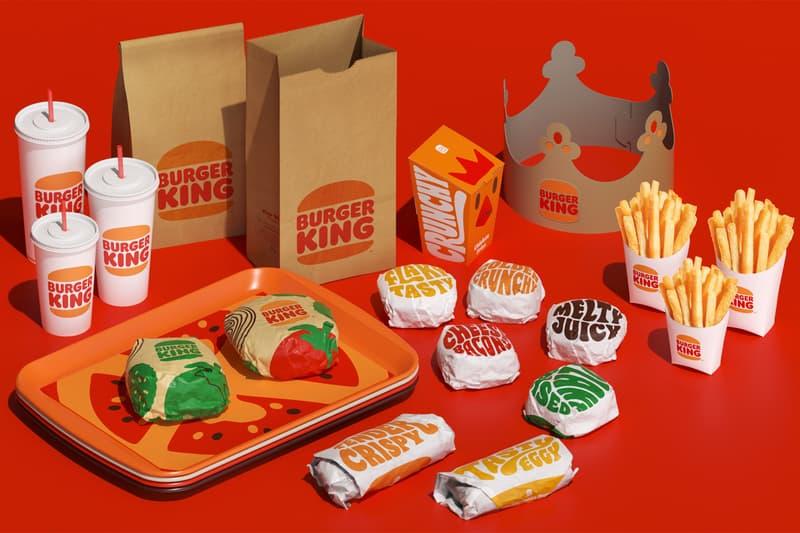 burger king rebrand design new logo uniforms packaging