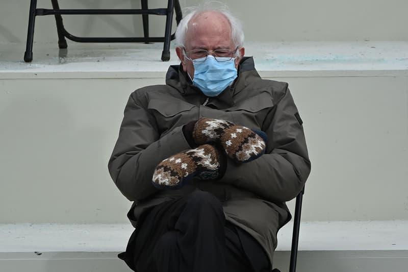 Bernie Sanders Inauguration Mittens Gloves Viral Meme Vermont Senator Buy Purchase LGBTQ Youth Program USA US How to Wear Steal Style GORE-TEX Jacket Hand Made Joe Biden 46th President United States of America Kamala Harris