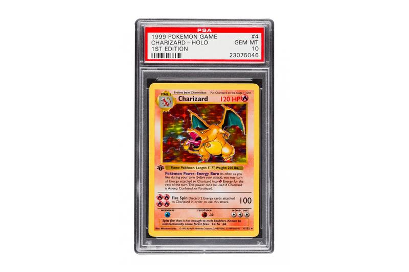 Charizard #4 Pokémon TCG Card May Sell for $350000 usd price heritage auctions sales rare flawless psa rating 10 mint gem booster box set
