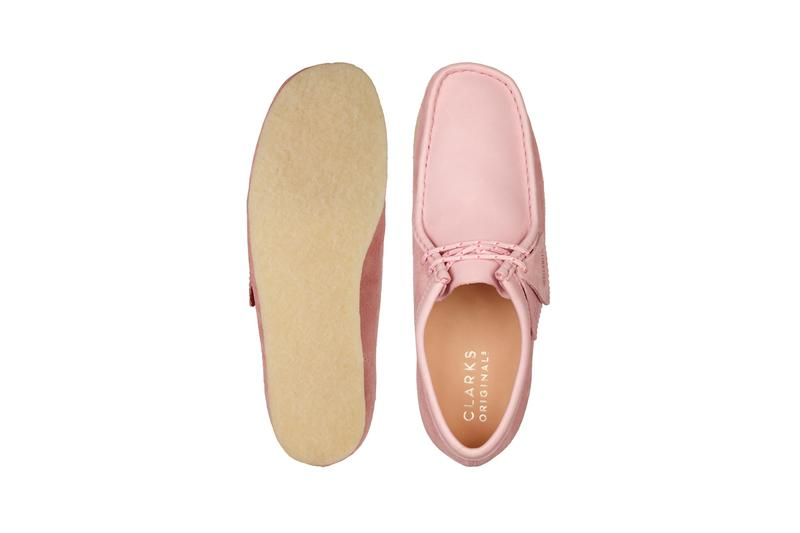 Clarks Originals combo leather suede Wallabee rose pink release information