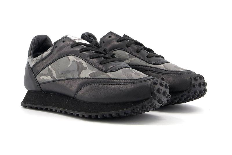 COMME des GARÇONS COMME des GARÇONS CDG x Spalwart Tempo Trainers Grey Camouflage Rei Kawakubo Sneaker Release Information Drop Date Closer First Look Black
