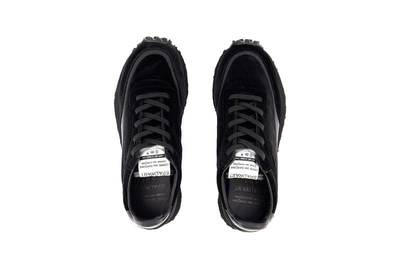 COMME des GARÇONS COMME des GARÇONS x Spalwart Velvet Tempo Trainers Release Sneaker Information Drop Date Closer First Look Black Minimal Rei Kawakubo