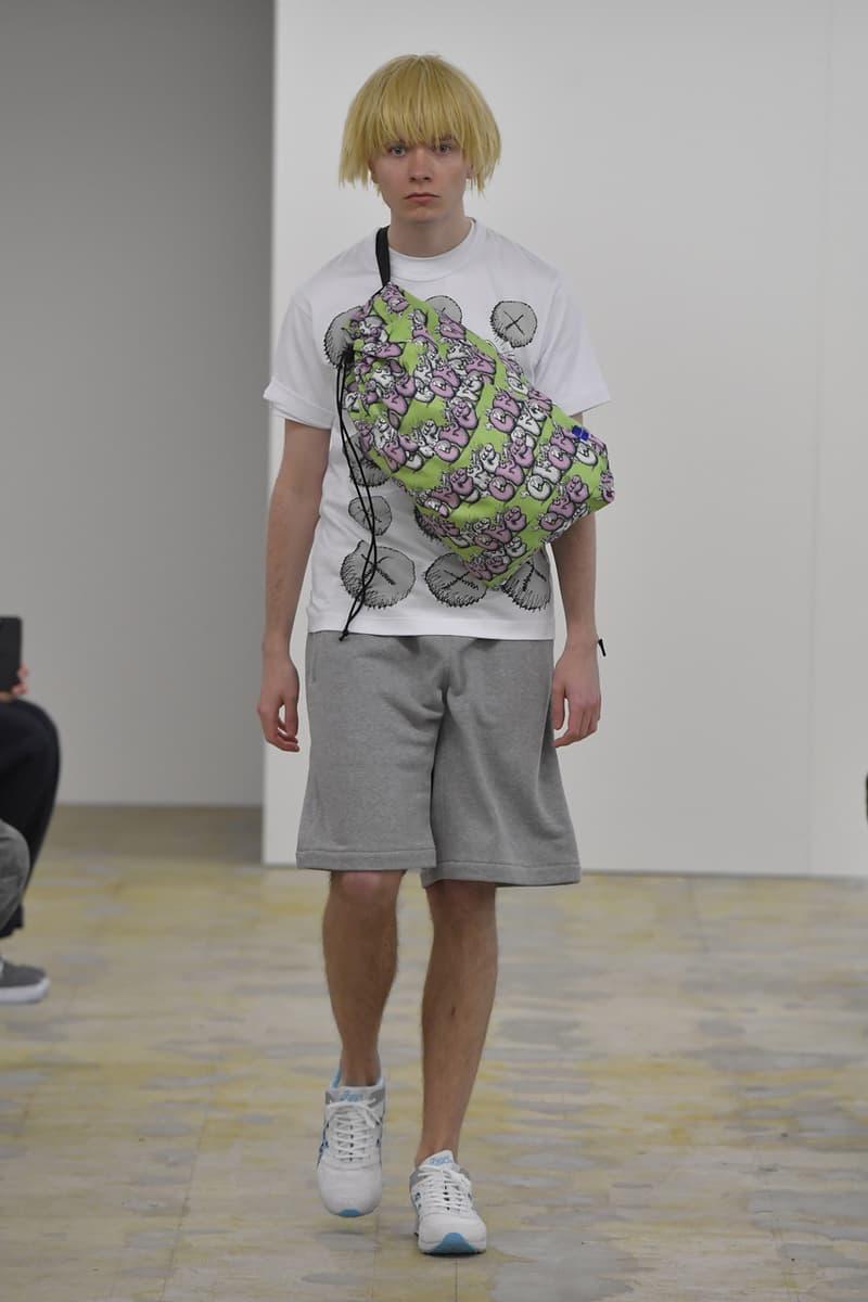 COMME des GARÇONS SHIRT Fall/Winter 2021 KAWS Runway collaboration fw21 collection menswear artist asics tarther sneaker release date info buy japan cdg