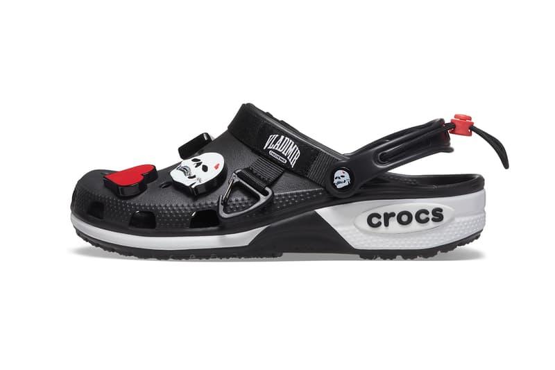 Crocs, Vladimir Cauchemar, Collaboration, 2021, Black, White, Jibbitz, Charms, Summer, Comfortable, DJ, Instagram, Limited, France, London, Europe