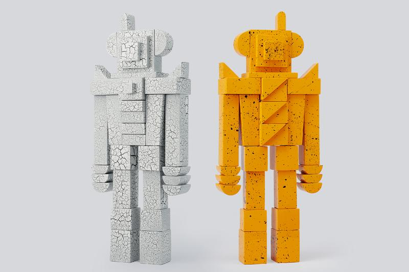 design by reborn lotus series robot sculptures lacquer wood gray yellow official pre order release date info photos price store list buying guide