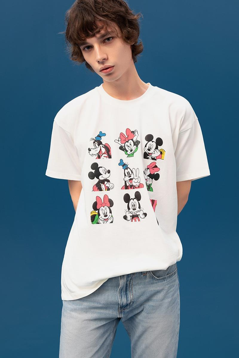Disney x Levi's Capsule Collection Lookbook Mickey Mouse Minnie Mouse Goofy Characters Cartoons Denim 502 Jeans Sweaters Bomber Jacket Shirts Overshirts