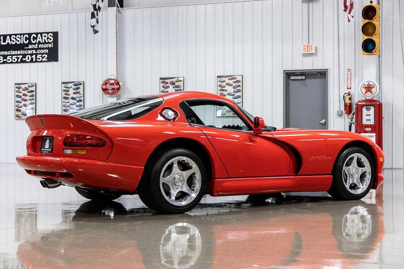 1997 Dodge Viper GTS Coupe Auction with 17 Miles Red Supercar Bring a Trailer Rare Low Mileage