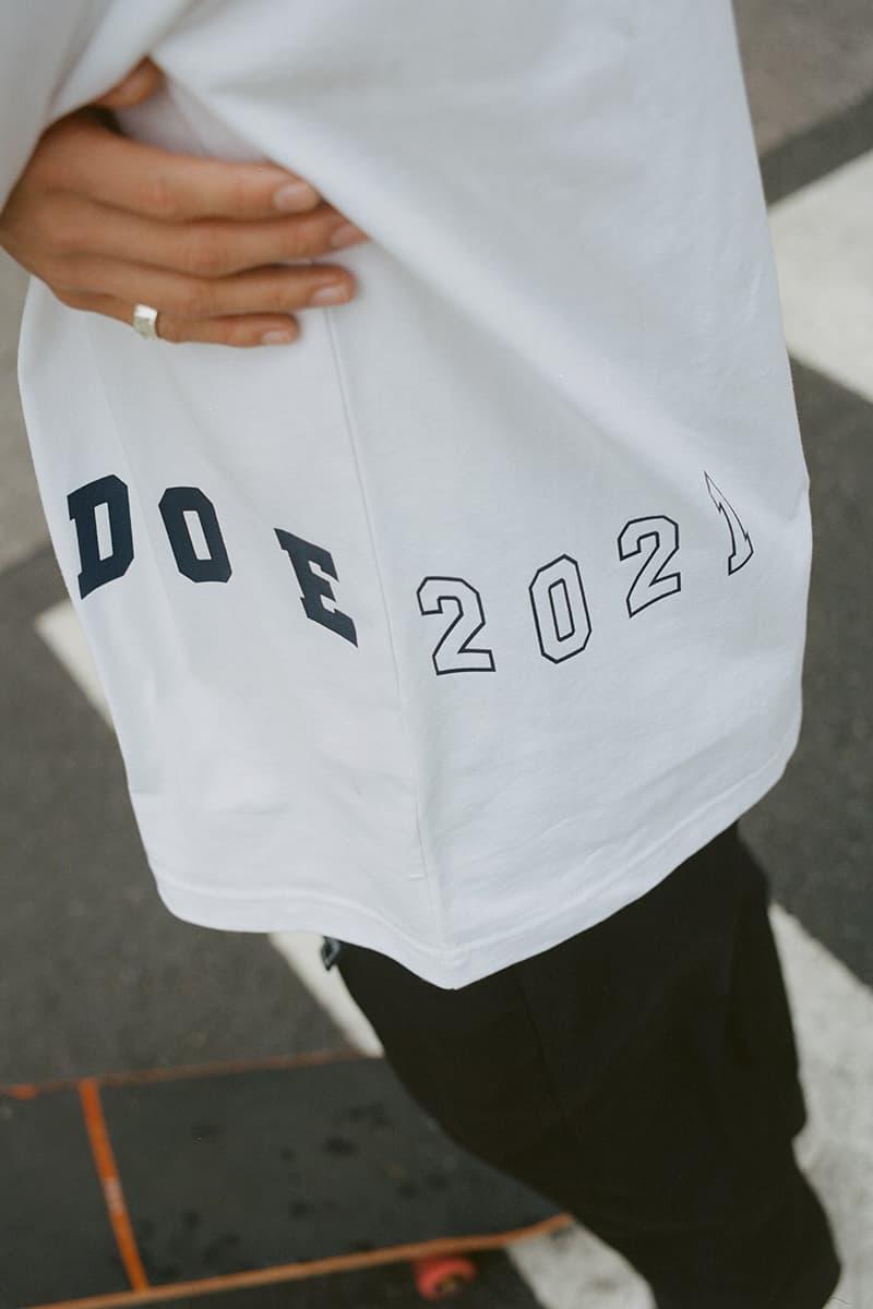 DOE Spring Summer 2021 Lookbook menswear streetwear ss21 collection jackets shirts trousers pants button ups pants kicks outerwear info