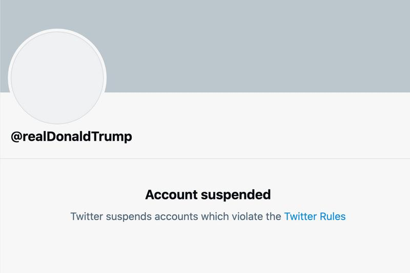 Donald Trump Twitter Account Has Been Permanently Suspended Capitol Hill Protest Riot Illegal Twitter Tweet President Biden