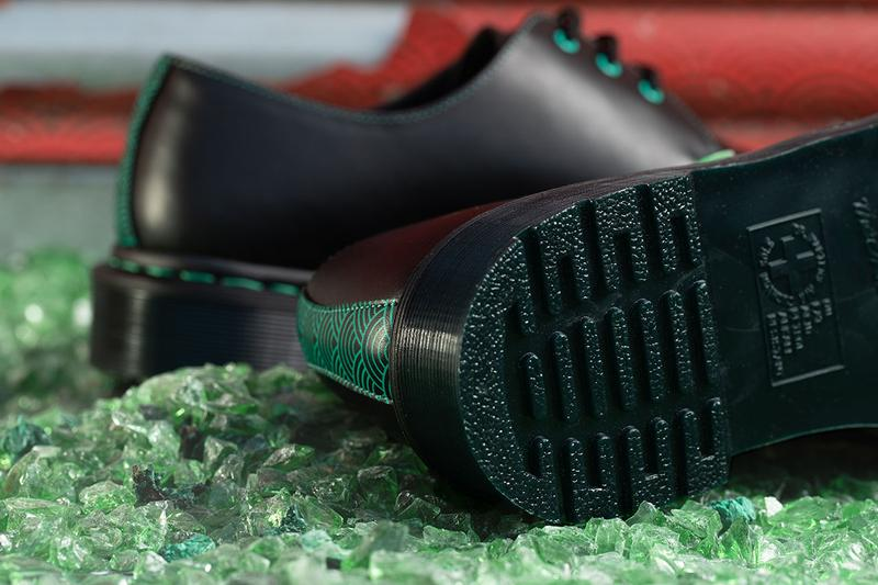 dr. martens 1461 black leather jade water chinese new year release information details