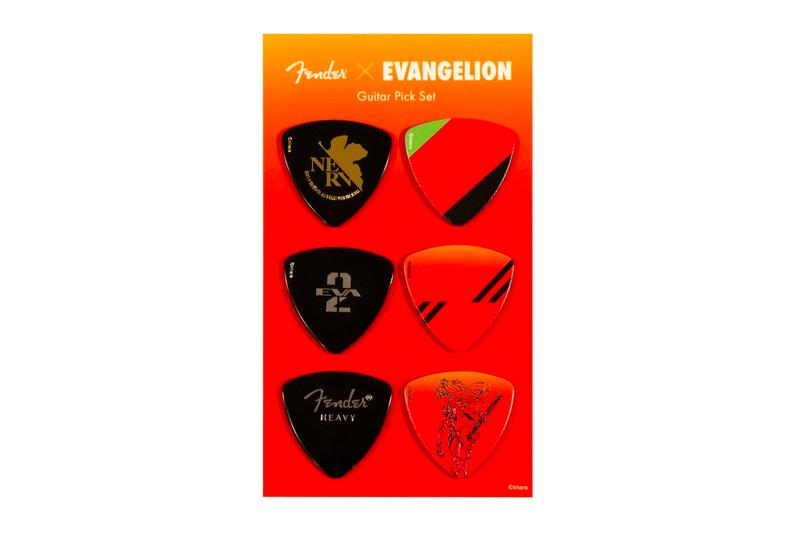 Fender Evangelion Asuka Pick Set Release movies anime instruments guitars accessories Evangelion: 3.0+1.0 Thrice Upon a Time design nerv Japan