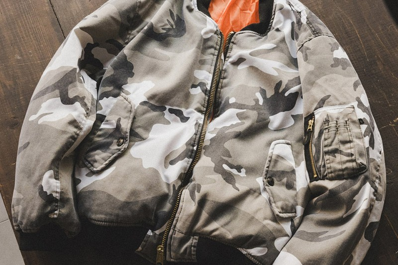 FOSTEX GARMENTS Reissues Signature MA-1 Bomber Jacket in Reproduction Vintage Wash