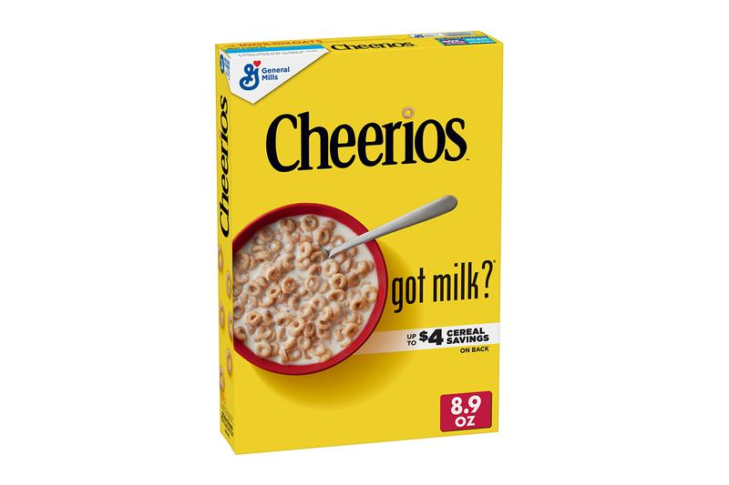 General Mills got milk? Milk-Mustache Cereal Boxes Release Cheerios Cinnamon Toast Crunch Cocoa Puffs Honey Nut Cheerios Lucky charms Trix