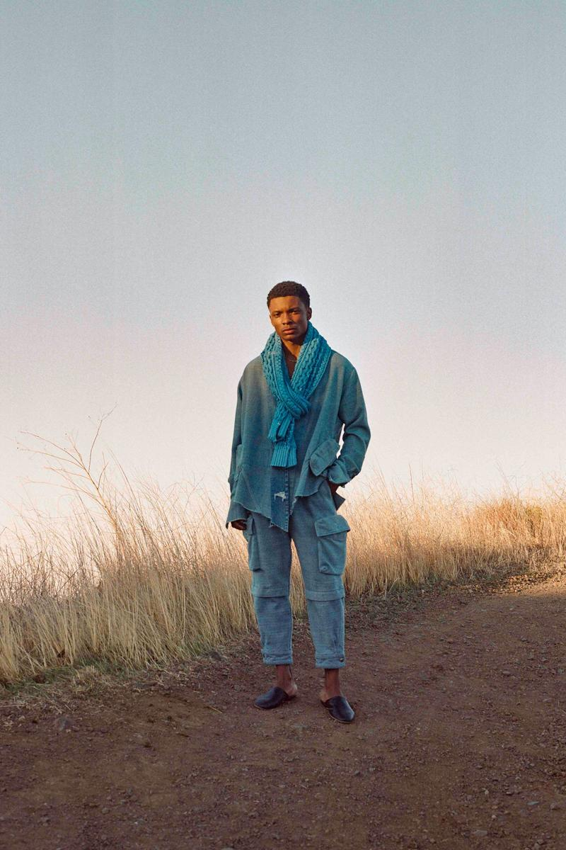Greg Lauren Fall/Winter 2021 Lookbook Collection FW21 Sustainable Fashion Scrapworks Stichworks Fabrics Yardage Garments Clothing Reuse Reduce Repurpose Rework Scraps Wool Los Angeles Ralph Lauren Nephew LA Based