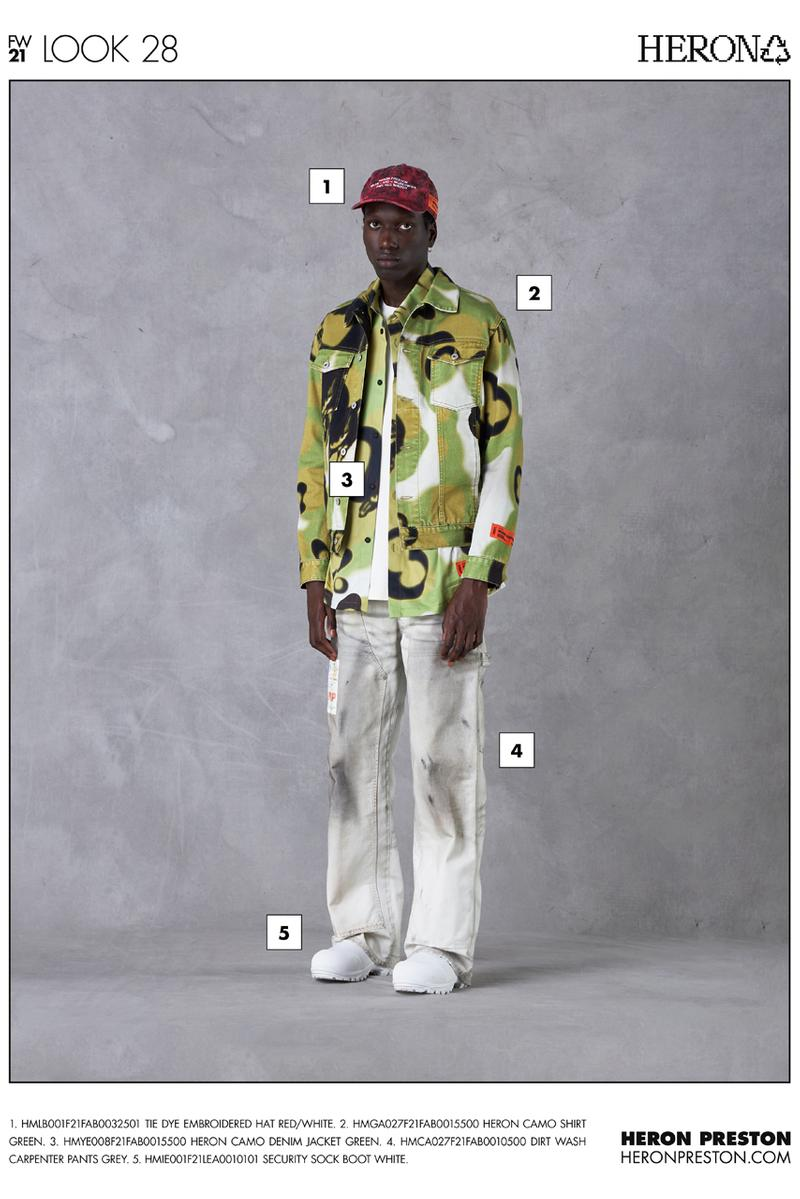 Heron Preston Fall/Winter 2021 Collection Lookbook menswear womenswear fw21