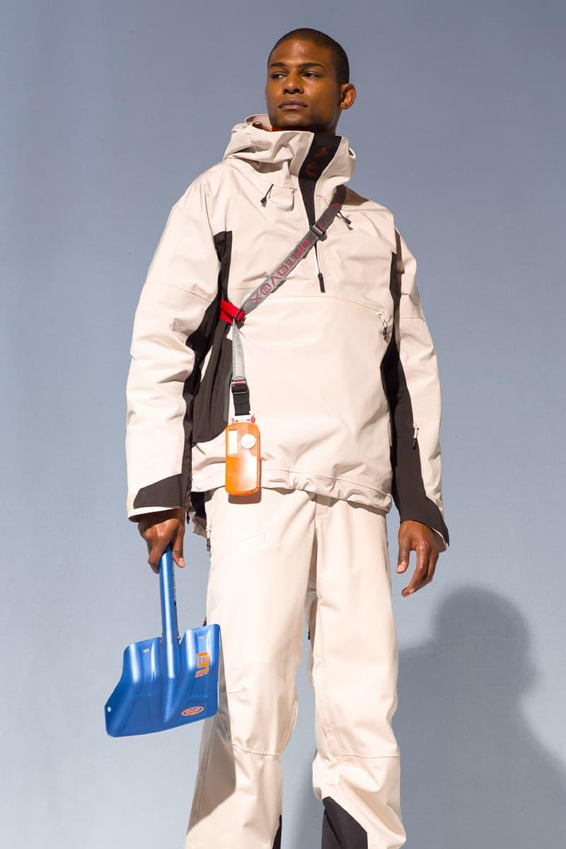 Holden winter lookbook snow sport luxury ski jackets outerwear high-end Japanese fabrics