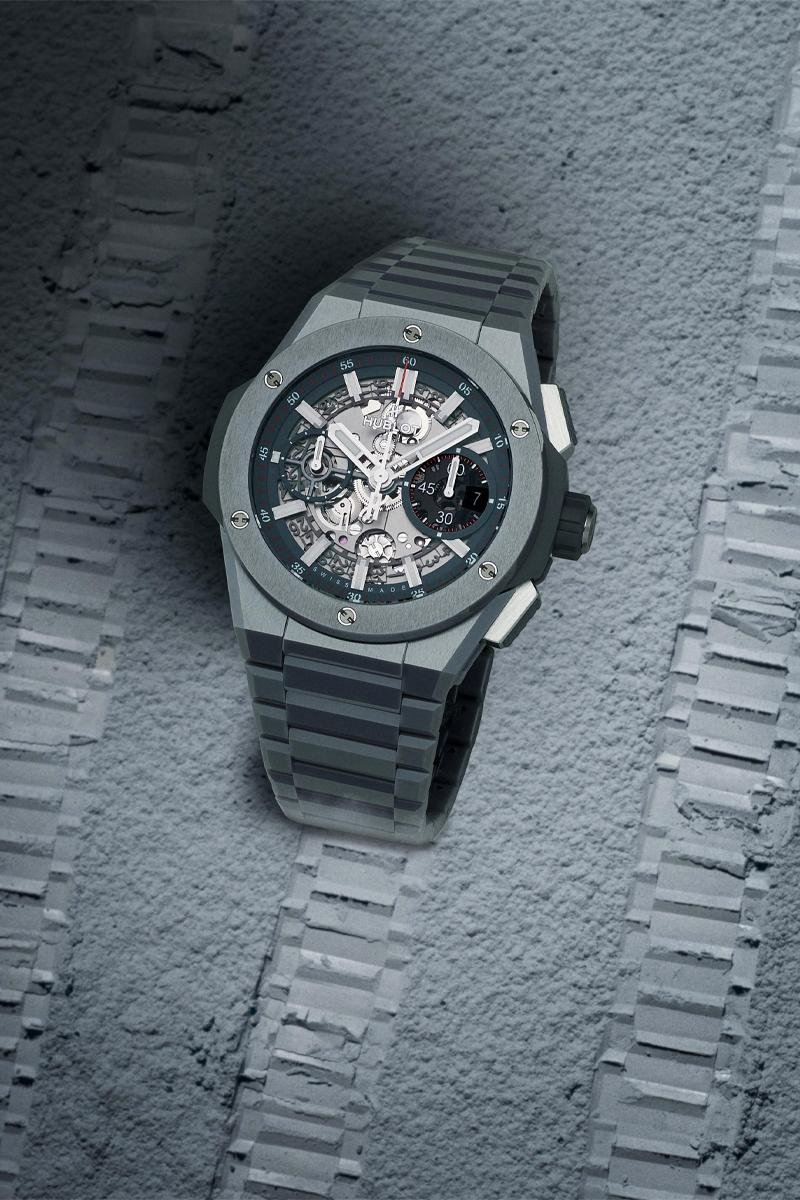 hublot big bang integral ceramic navy blue gray white colors watches accessories chronograph movement
