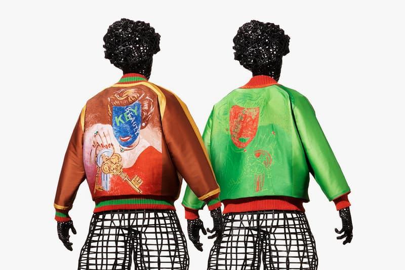 Tadanori Yokoo x Issey Miyake APOC SS21 Jackets spring summer 2021 artwork painting stadium bomber 0 a piece of cloth japan