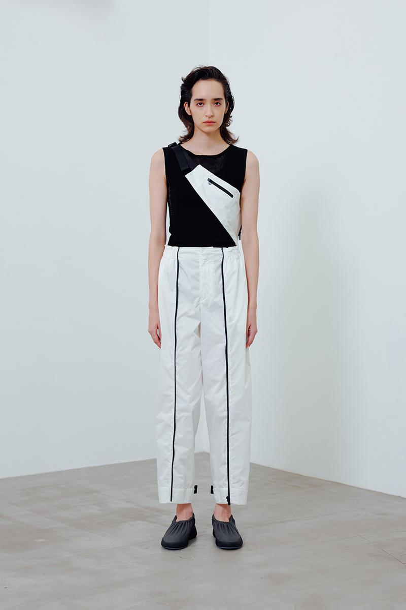 """Issey Miyake Spring/Summer 2021 """"Compact"""" Series ss21 packable clothing womensear collection capsule  polyester jacket skirt dress"""