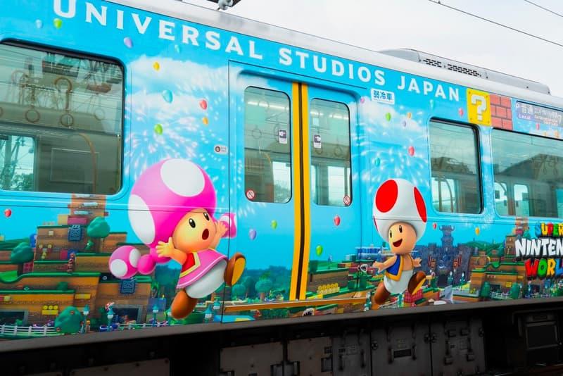 Super Nintendo World Train Universal Studios Japan osaka JR Yumesaki line super mario bros characters toad flower delay coronavirus covid 19 info