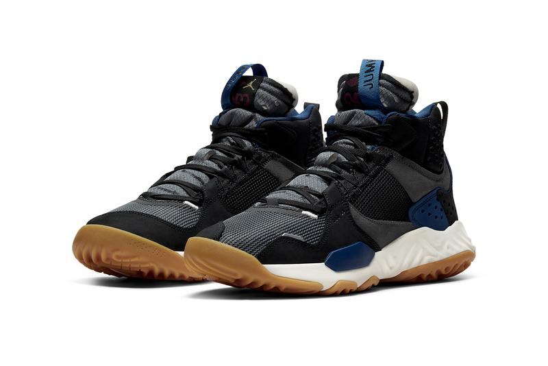 air michael jordan brand delta mid black storm blue gym red dark grey white gum DC2130 006 official release date info photos price store list buying guide