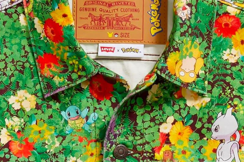 Levi's x Pokémon Denim Jacket Teaser Pikachu Nintendo Anime Japan Workwear trucker jeans classic USA floral Mewtwo