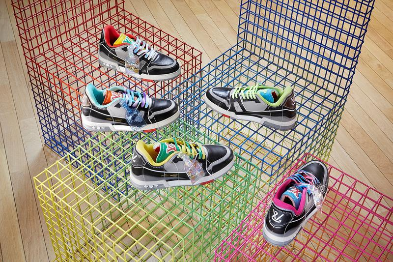 louis vuitton lv trainer ollie upcycled release details pop up hall of fame walk in the park events paris fashion week virgil abloh
