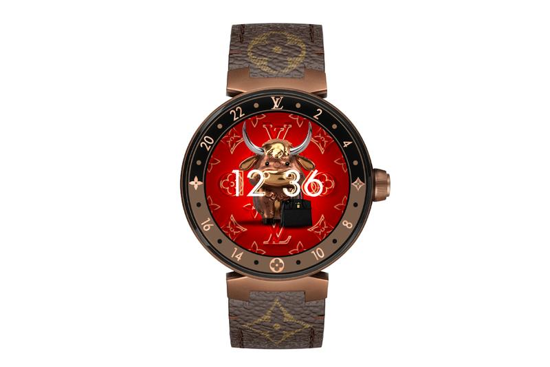 Louis Vuitton Year of the Ox Tambour Horizon Watch Face Lunar New Year 2021 Chinese Zodiac Sign Monogram Flowers Smartwatch