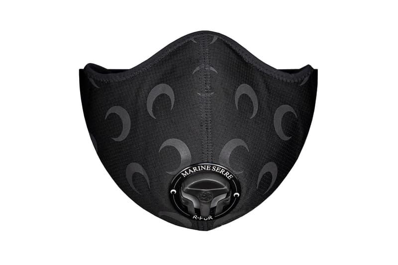 Marine Serre R-PUR Black Moon Reflective Respirator Face Mask Release Info Buy Price Coronavirus COVID-19