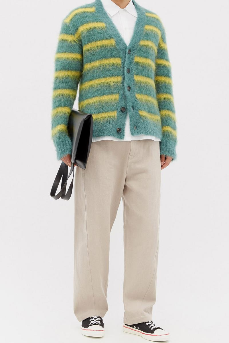 marni striped mohair cardigan release information matches fashion Francesco Risso