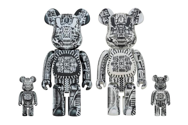H R Giger Medicom Toy BEARBRICK 100 400 fall winter 2020 collection fw20 figures character visual artist swiss airbrushed images biomechanical alien accessories
