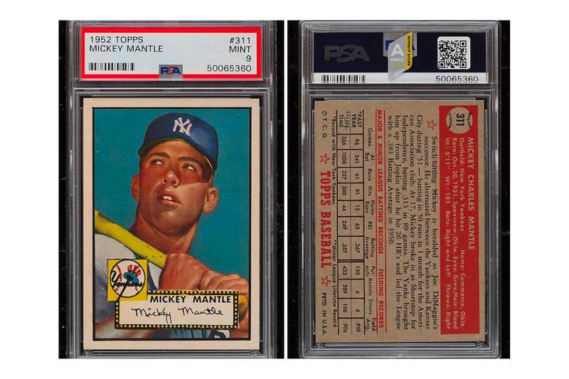 Mickey Mantle Baseball Card Most Expensive Auction Record Millions topps