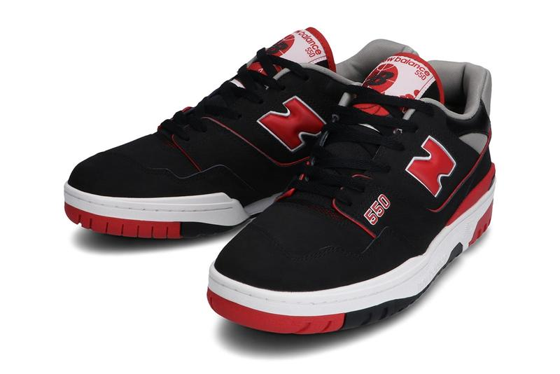 new balance bb550 black red nubuck official release date info photos price store list buying guide