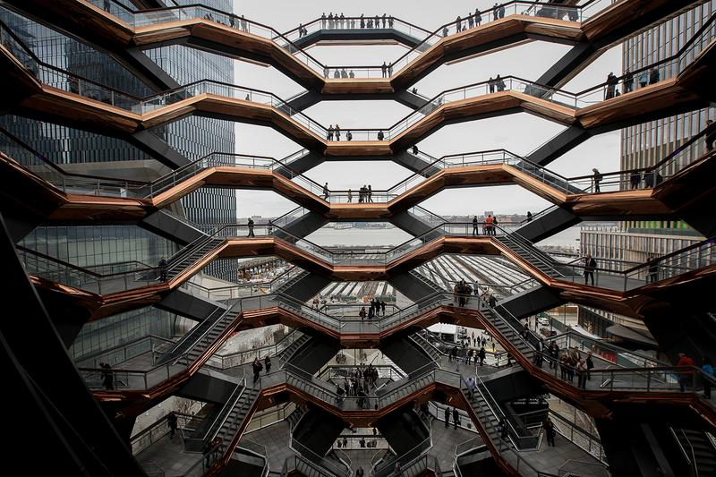 New York's Hudson Yards 'Vessel' Closes Indefinitely suicide prevention structure manhattan instagram Thomas Heatherwick jump tourist attractions tower architecture