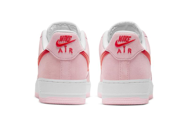 nike sportswear air force 1 low valentines day tulip pink university red white hearts official release date info photos price store list buying guide