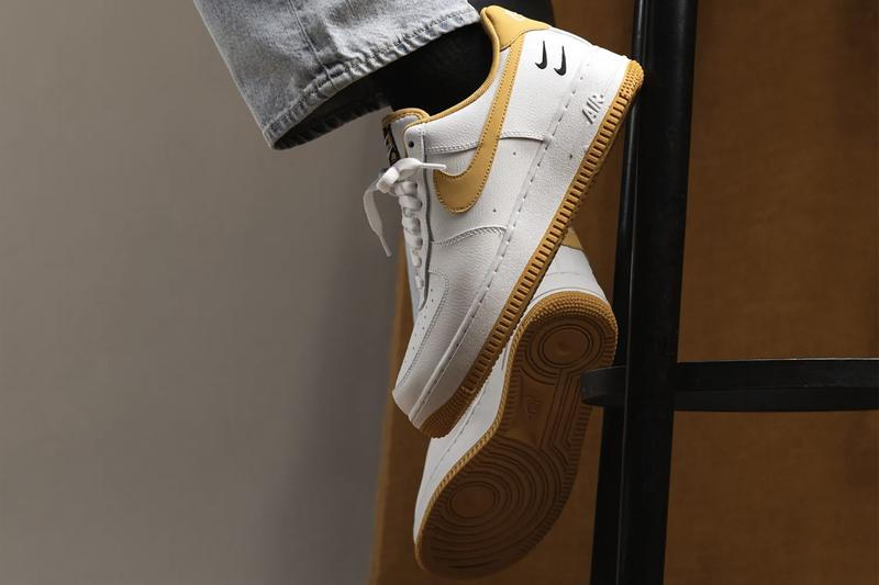 Nike Air Force 1 White Light Ginger Black CT2300 100 Swoosh AF1 Footwear Sneaker Release Information Drop Date Closer First Look HYPE Shoes Trainers Double Swooshes