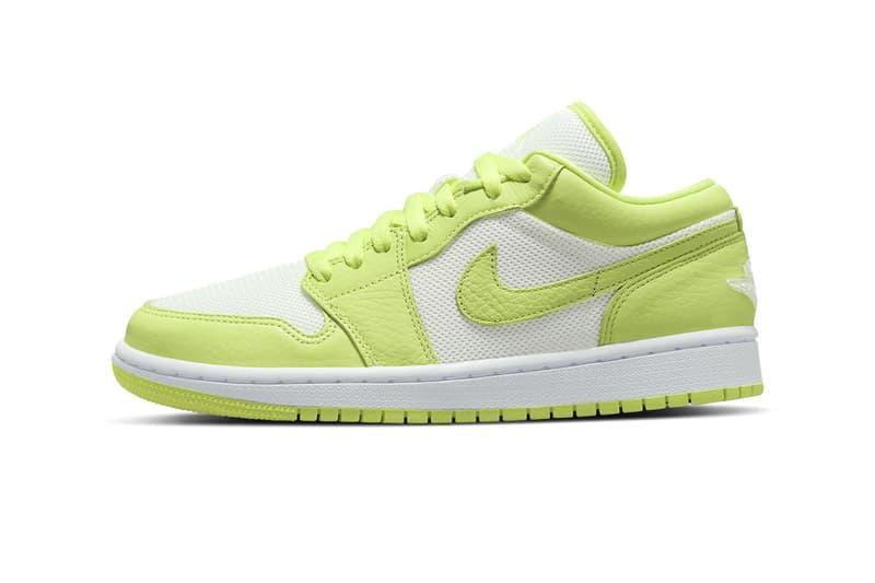 Nike air jordan 1 low limelight dh9619 103 release menswear streetwear kicks trainers runners spring summer 2021 collection ss21 shoes footwear info