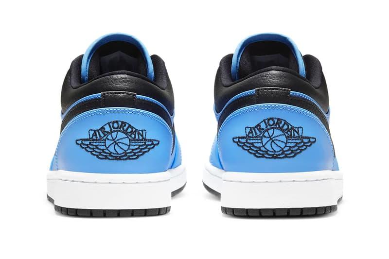 Air Jordan 1 Low University Blue University Gold 553558 403 700 menswear streetwear kicks trainers runners sneakers footwear shoes spring summer 2021 collection ss21 info