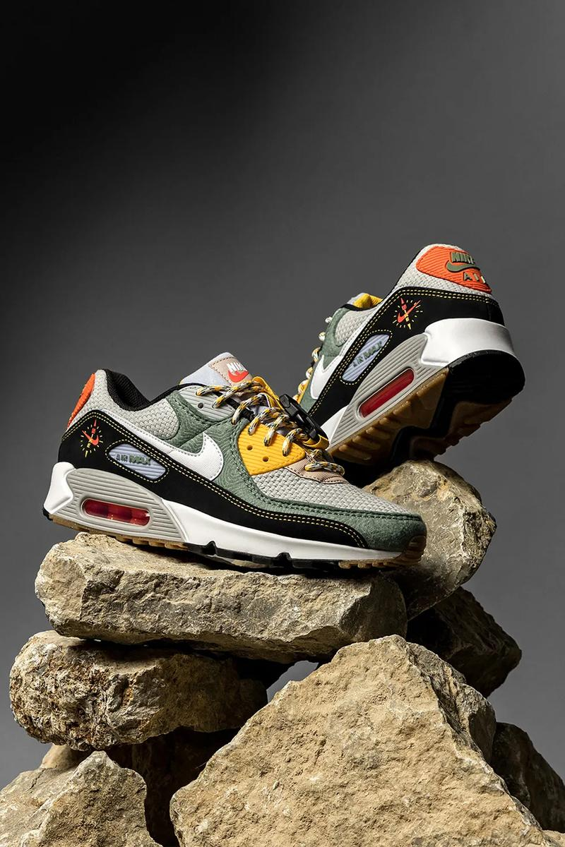nike air max 90 spiral sage dc2525 300 release menswear streetwear kicks trainers runners shoes sneakers spring summer 2021 ss21 collection