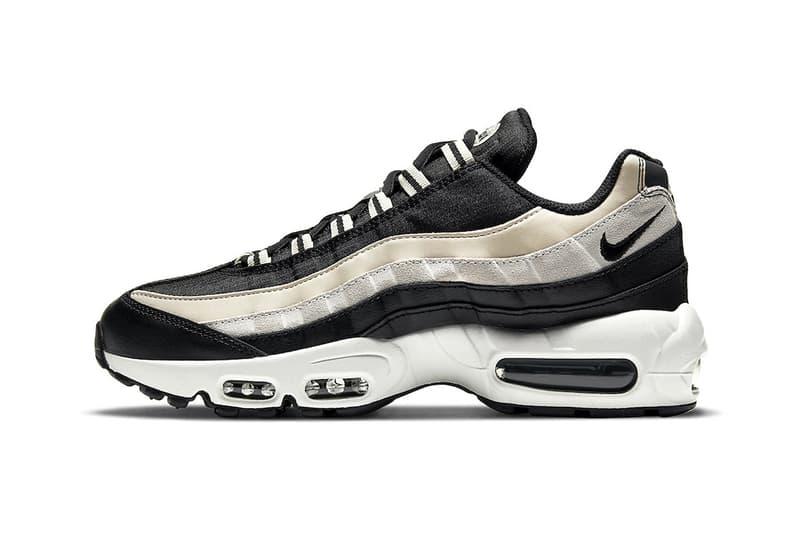 "Nike Air Max 95 ""Champagne"" COMME des GARÇONS HOMME PLUSColorway Release Information Closer First Look OG Sneaker Shoe Trainer Footwear Swoosh Brand Black Suede Nylon Mesh"