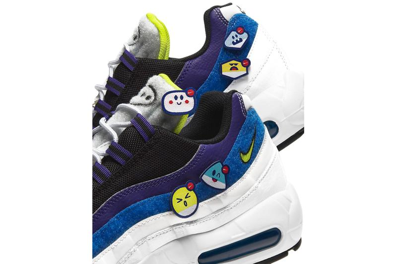 nike air max 95 emoji patches release footwear shoes sneakers