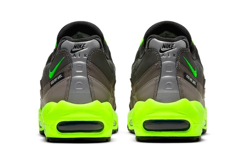 """Nike Air Max 95 """"Kiss My Airs"""" Release Info footwear volt neon black air max day sneaker"""