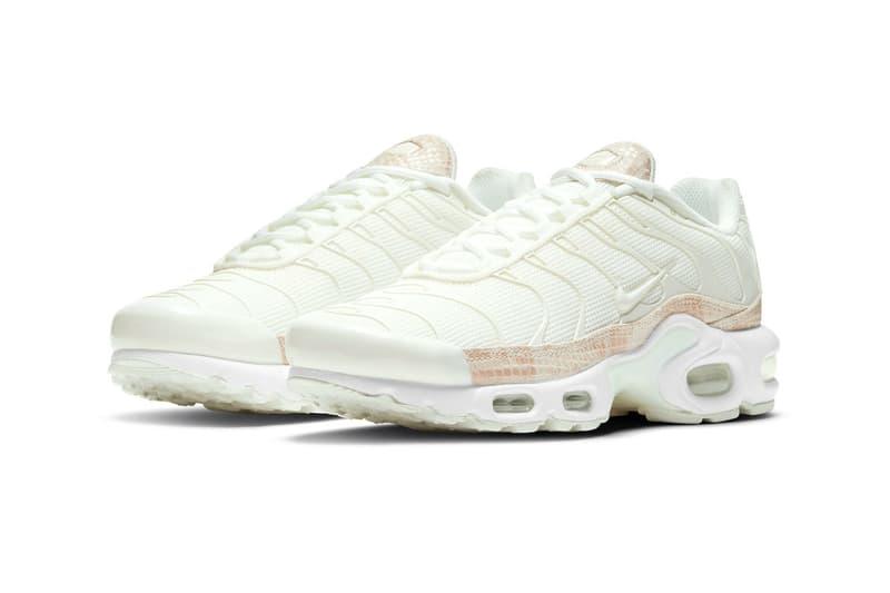 nike air max plus pink snakeskin dj4601 100 release menswear streetwear shoes kicks sneakers runners trainers ss21 spring summer 2021 info