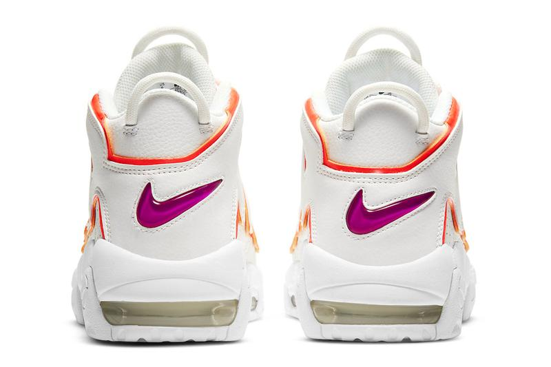 Nike Air More Uptempo Sunset Colorway Announcement Sneakers Silhouette Basketball Shoes Air Swoosh